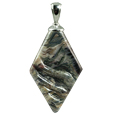 Pet Cremation Jewelry: Black Granite Rhombic