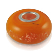 Pet Cremation Jewelry Perfect Memory Bead Orange