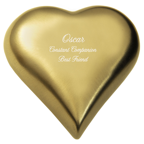 Brass Heart Keepsake Urn