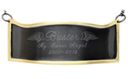 Pet Memorial Engraved Contoured Slate & Brass Plaque