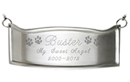 Pet Memorial Engraved Contoured Brass Plaque
