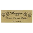 Small Pet Memorial Engraved Plaque- Brass Finish Black Fill