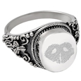Pet Print Cremation Jewelry: Round Ring- Noseprint