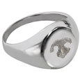 Sterling Silver Elegant Round Ring Nose Print Pet Memorial Jewelry