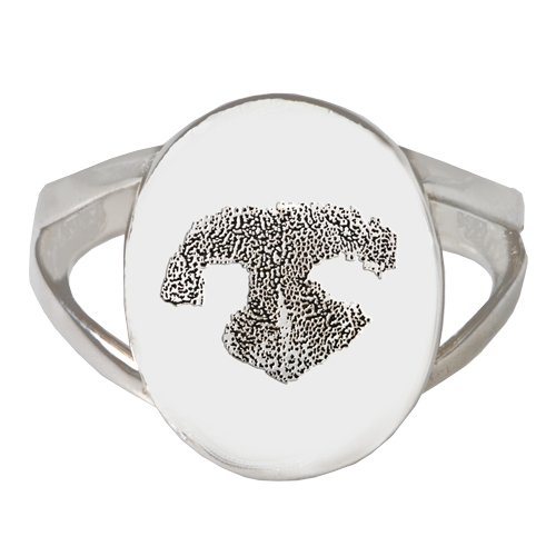 sterling silver oval quot v quot ring nose print pet