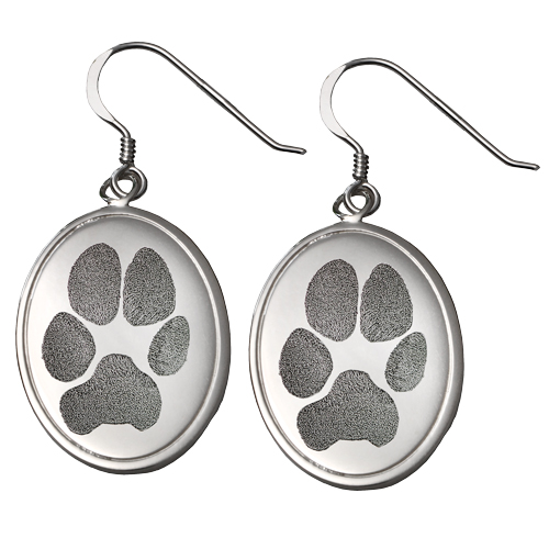 Sterling Silver Earrings Nose Print Pet Memorial Jewelry