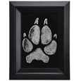 Pet Memorial Portrait- Framed Art Pet Print- Pawprint