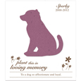 20 Plantable Dog Memorial Cards + Envelopes