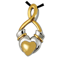 Pet Cremation Jewelry Premium Stainless Steel Claddagh Infinity