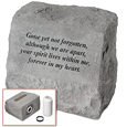 Garden Stone Pet Urn Memorial: Gone yet not forgotten...