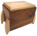 Hard Maple and Walnut Artisan Pet Wood Urn