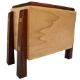 Hard Maple and Walnut Artisan Pet Wood Urn- Modern
