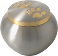 Cat Cremation Urns: Golden Pair of Pawprints