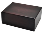 Dark Brown Wooden Box Cat Urn Medium shown plain