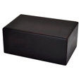 Dark Brown Wooden Box Cat Urn Small shown plain