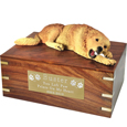 Pet Urns: Golden Retriever -Laying