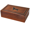 Dog Silhouette Wood Hinged Pet Urn