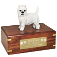 Pet Urns: West Highland Terrier Figurine Wood Urn