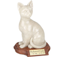 Cat Urn Faithful Feline Urn - Sitting