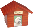 Pet Urn: K-9 Cottage Dog House Urns: Cherry