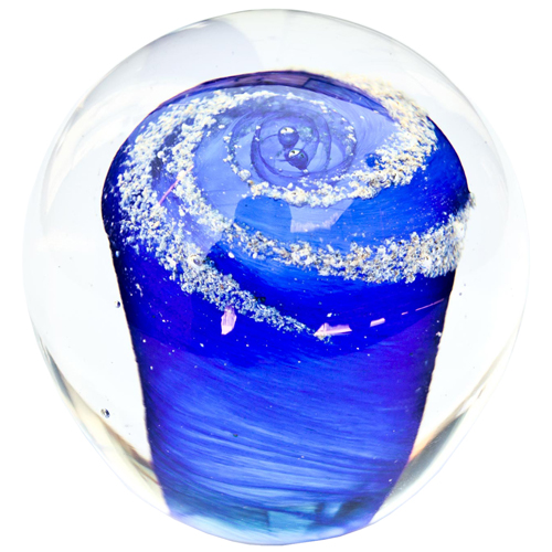 Pet Memory Glass Solid Galaxy Sky Blue