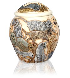 additional view of cat heaven pet cremation urn