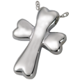 dog bone cross cremation jewelry
