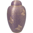 Pet Urns Butterflies Purple Urn- 11""