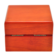 Back shown of Birch Piano Hardwood Box Pet Urn