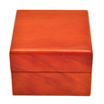 Front shown of Birch Piano Hardwood Box Pet Urn