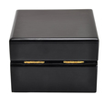 Back shown of Black Piano Hardwood Box Pet Urn