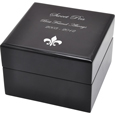 Engraved with text and clip art Black Piano Hardwood Box Pet Urn