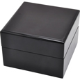 Wooden Pet Urn: Black Piano Hardwood Box Urn