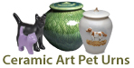 ceramic art pet urns