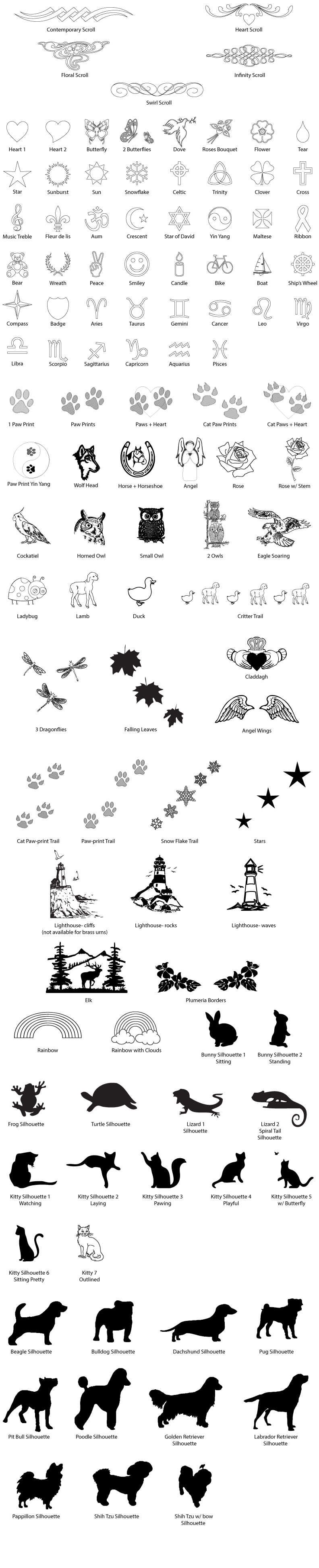 clip art for engraving on pet memorial products