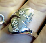 customer appreciation photo pet companion heart urn ring
