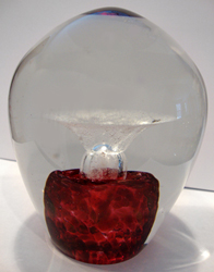 pet memorial enduring fountain shown in ruby red