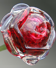 detail of ruby red eternal bloom pet memorial keepsake