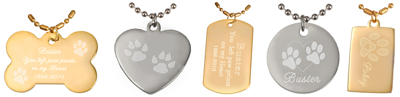 engraved hanging pet tags