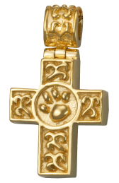 Cross pet cremation jewelry
