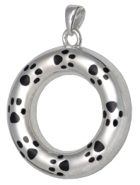 Round pet cremation jewelry