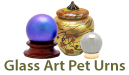 Glass Art Pet Urns