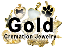 Gold Pet Cremation Jewelry