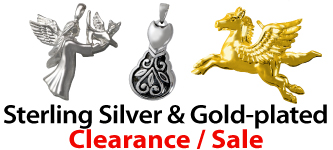 Sterling Silver & Gold-plated Pet Cremation Jewelry Clearance Sale