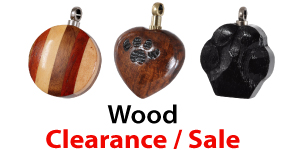 Wood Clearnce Sale Pet Cremation Jewelry