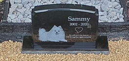 photo granite marker for pets