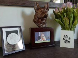 german shepherd pet urn