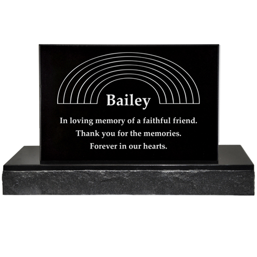 Pet Burial Headstone shown with text and clip art