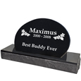 Side view of Pet Burial Granite Marker- Oblong