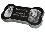 Granite Bone Pet Marker with Photo